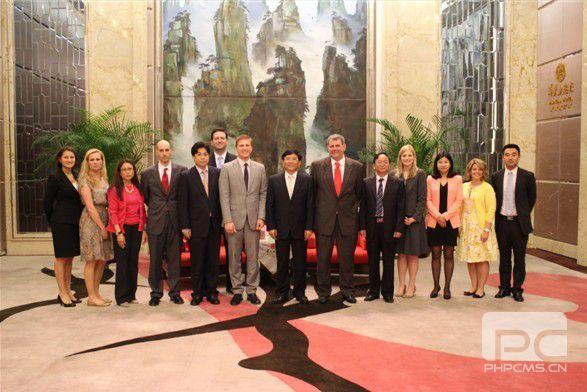 美國青年領導人代表團來湘訪問交流
